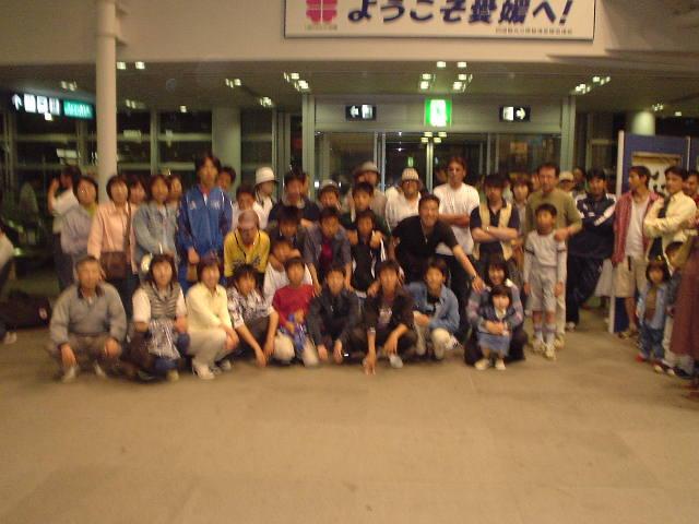 松山観光港にて